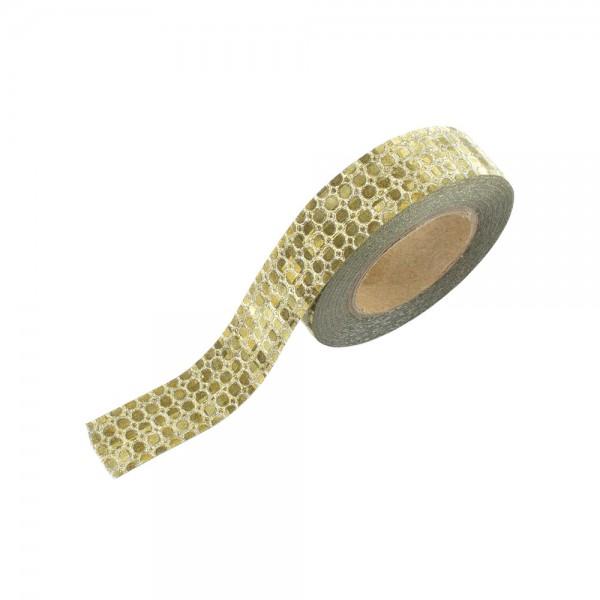 Washi Tape - Glitter mit goldenen Punkten(glänzend)