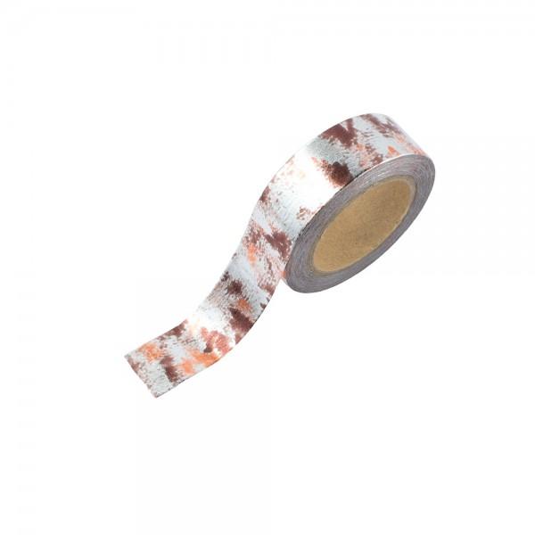 Washi Tape - Silber-Bronze Camouflage (glänzend)
