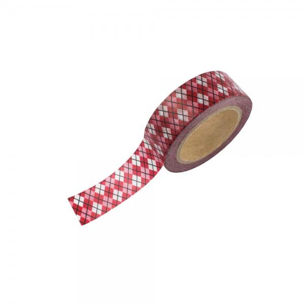 Washi Tape - Rot/Weiß kariert