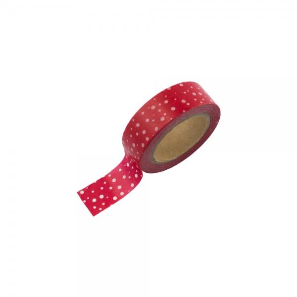 Washi Tape - Rot mit weißen Pünktchen