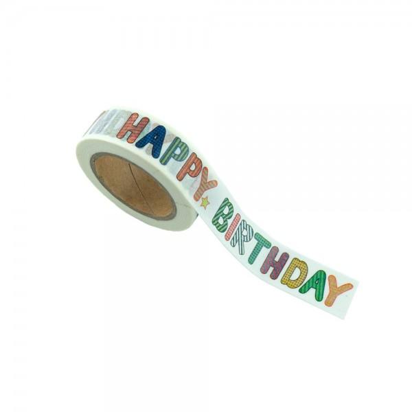 Washi Tape - Happy Birthday