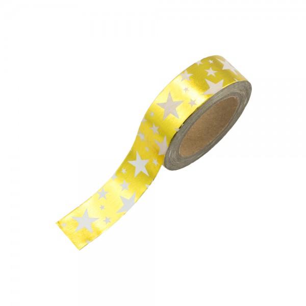Washi Tape - Goldfolie Sternchen (glänzend)