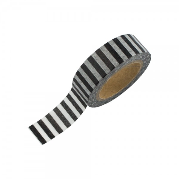 washi tape schwarz wei gestreift washi tape24. Black Bedroom Furniture Sets. Home Design Ideas