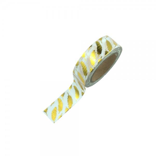 Washi Tape - Goldene Federn