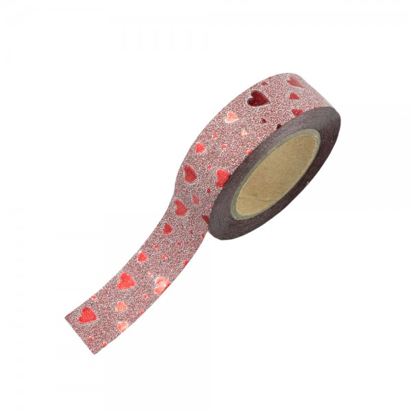 Glitter Tape - Rote Herzen