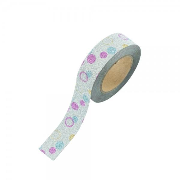 Glitter Tape - Bunte Kreise