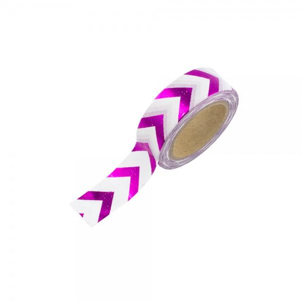 Washi Tape - weiß mit pinken Pfeilen (glänzend)