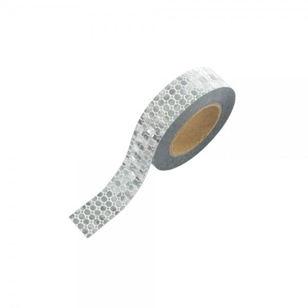 Washi Tape - Glitter mit silbernen Punkten (glänzend)