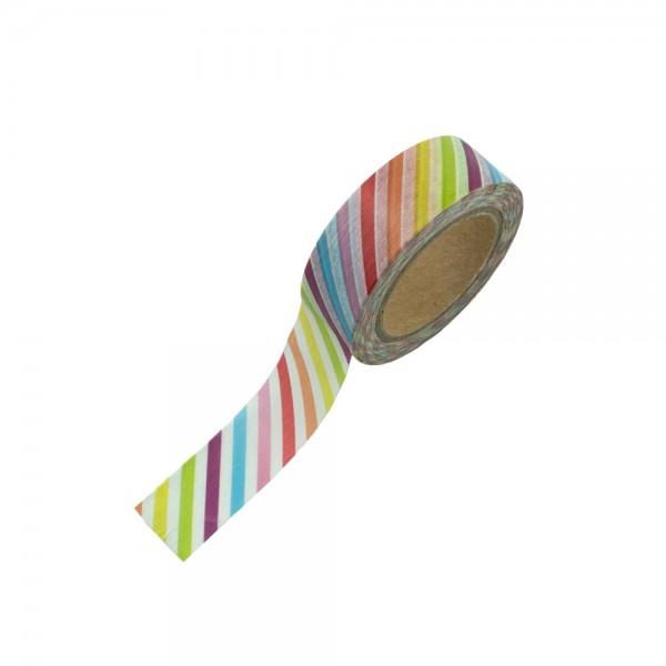 Washi Tape - bunt gestreift
