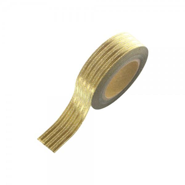 Washi Tape - Gold-Glitter Streifen