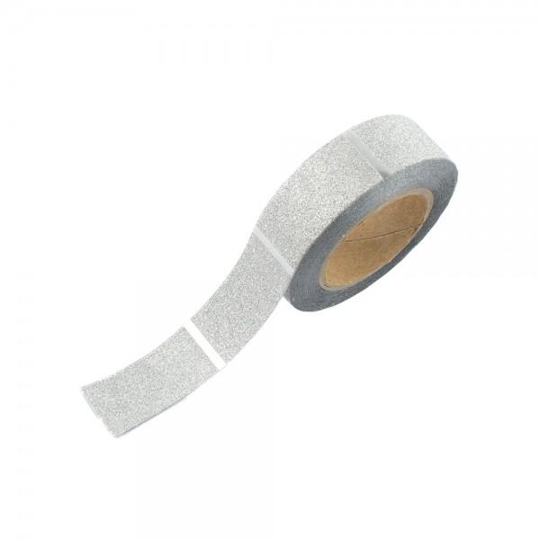 Glitter Tape - Silber Streifen (glänzend)
