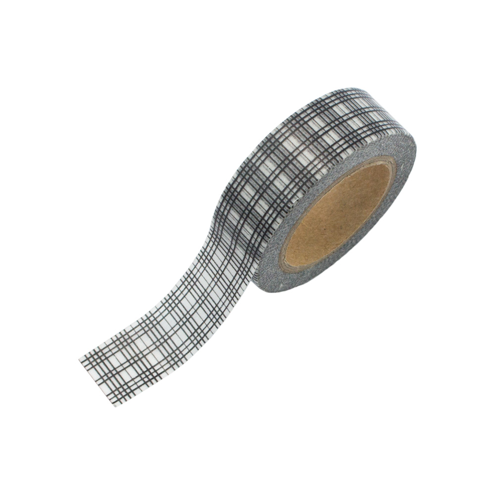 washi tape schwarz wei kariert 02 washi tape24. Black Bedroom Furniture Sets. Home Design Ideas