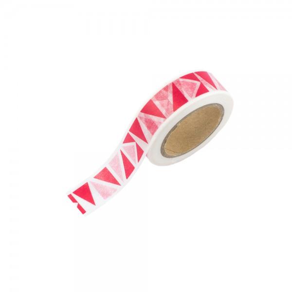 Washi Tape - Weiß mit roten Dreiecken