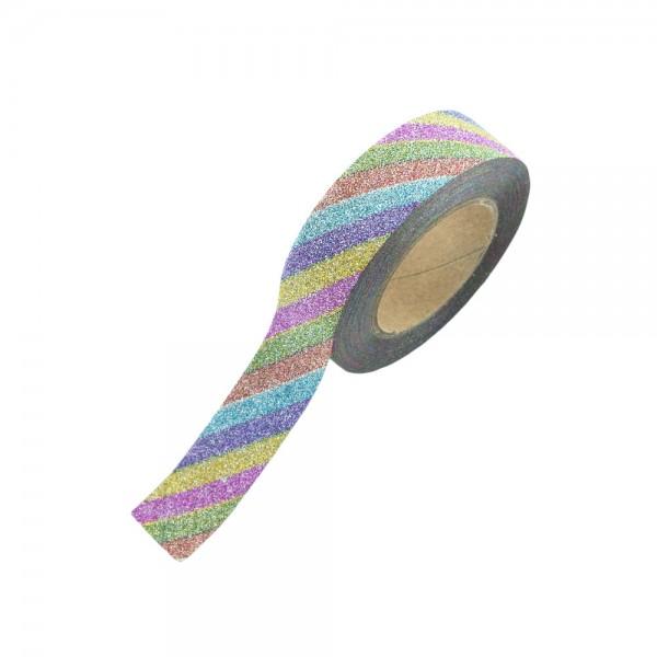 Glitter Tape - Bunte Streifen